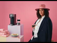 Nespresso x Joy Harris. Photo by Olof Ringmar. Sitting 50x70
