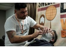 Jac Ludlow från Wales var en av de internationella domarna i Swedish Barber Expo Barber Battle 2017.