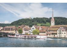 Stein am Rhein: Im Hintergrund die Burg Hohenklingen