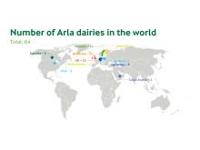 Karta över Arlas mejerier