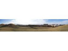 Hyllies nya badhus - panorama över platsen där badhuset ska byggas