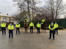 Officers patrolling open spaces in Tower Hamlets