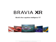 BRAVIA XR - world's first cognitive intelligence TV - line-up