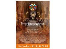 Fredskonsert, Storkyrkan 30 okt kl 20.00