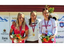 NM rulleskiskyting 2015 Jaktstart medaljevinnere kvinner