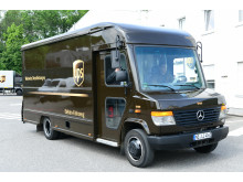 UPS E-Fahrzeug mit BPW-Antrieb in Fahrt