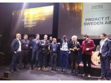 Proact IT Sweden vinnare Gulddraken 2020 - Nordic Partner of the Year