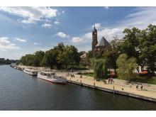 Blick auf die Johanniskirche in Brandenburg/Havel