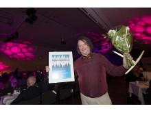 Vinnare av utmärkelsen Årets Skidambassadör/skidanläggning 2016: Kåbdalis med Johan Gunnarstedt