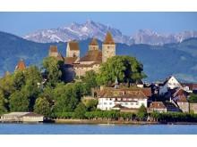 Kloster Rapperswil mit Schloss am Zürichsee