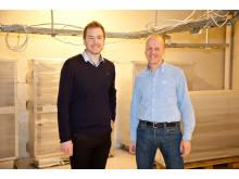 Per Hellevik Carlsson, Business Manager Schneider Electric og Olav Røssum, ordfører Nord-Fron kommune