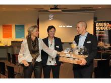 Jane Bejlegaard Lindberg, Business Rebild, Marianne Westergaard, formand for Rebild Erhvervsudviklingråd og Lars Jøker, Marel