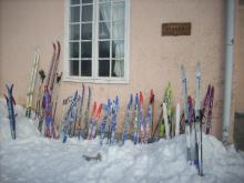 Skinnskatteberg skidor vid förskolan