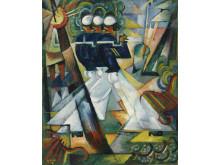 Söndagspromenad, 1917, olja