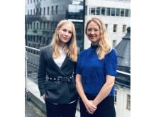 Elisabeth Salmgren von Schantz och Louise Rodebjer, nya delägare hos Wistrand
