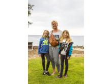 Camilla Christensen med døtrene Alberte og Emilie på 9 og 11 år fra Skævinge i Nordsjælland.