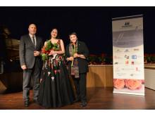 1. Preisträgerin Ekaterina Chayka-Rubinstein (Mitte)