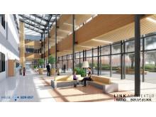 Nytt sykehus Drammen  interiør