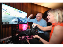 Guests put their driving skills to the test