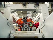 Scania Stufe V-Motor im Perlini Muldenkipper