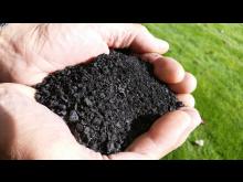 biokol i handen