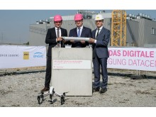 Telekom data centre, Biere, foundation stone