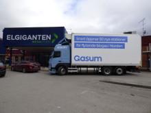Volvo gassdrevet lastebil