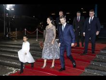 D.K.H. Kronprins Frederik og Kronprinsesse Mary ankommer til Kronprinsparrets Priser 2020 på Værket i Randers