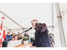 Borgmester Peter Sørensen glæder sig over den store fremdrift i Horsens og takkede bl.a. bygherre for deres investeringsvillighed