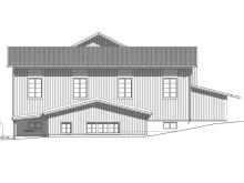 Ritning ny fasad Klövsjö skola