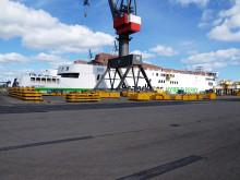 De to nye færger M/F Berlin og M/F Copenhagen ligger nu igen langs kaj ved værftet FAYARD på Fyn