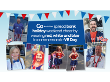 Go North East spread bank holiday weekend cheer by wearing red, white and blue to commemorate VE Day