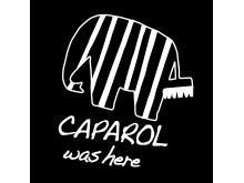 Caparol was here logga med svart bakgrund