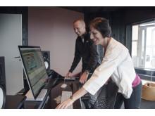 Gunnar Greve og Kimberly Lein-Mathisen i Studio