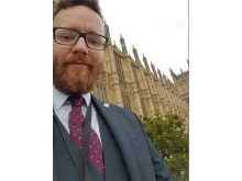 Euan Macfarlane outside The Houses of Parliament