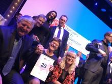 Overrækkelse af bevis for at være en af Danmarks Bedste Arbejdspladser  2017