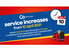 Go North East return to full levels of service from 10 April