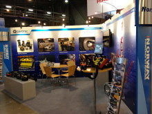 Ready and raring: the Cavotec stand set for action at OTC Houston