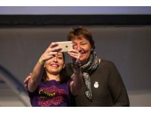 Ordfører i Oslo Marianne Borgen (til h.) og festivalsjef Kremena Tosheva, Cutting Edge-festivalen 2017