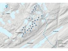 Faktaark- kart Kvenndalsfjellet vindpark-NO