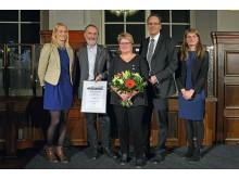 Der Förderverein Leipziger Notenspur e.V. erhielt den dritten Platz in der Kategorie Unternehmen. Initiatoren Prof. Werner Schneider und Dr. Elke Leinhoß freuten sich über die Auszeichnung