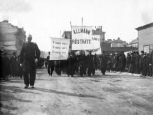 Demonstrationståg i Sundsvall 1899