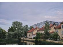 Eskilstunaån, boenden och Mälardalens Högskola