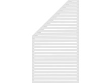 JABO Horizont 3 vänster vit 90x90-160 (4231)