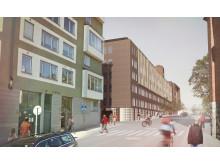 S:t Görans sjukhus, ny byggnad blick mot väster