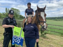 Sgt Darren Walsh, Helen Evans and new rural spotter Felicity