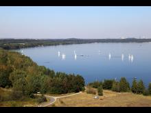 Cospudener See - Blick von der Bistumshöhe - Foto: Andreas Schmidt.JPG