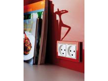 LK FUGA Hardline Deco i køkken, rød