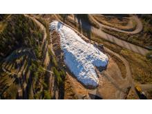 20200 kubikkmeter med lagret snø