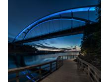 SVINDERSVIKSBRON, NACKA - ett av de nio projekt som tävlar om Svenska Ljuspriset i år